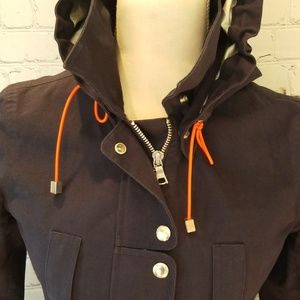 Banana Republic Blue Hooded Raincoat
